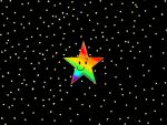 GIFT: A colorful star in the starry sky by ThatCube1991