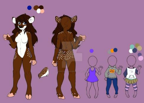 Coco the Deer Reference Sheet by FiestyFurries
