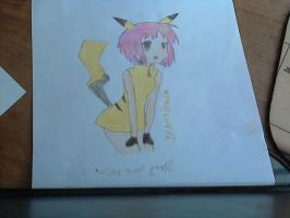 if pikachu was a girl... or human xD by cookahmonstah
