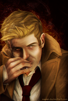 John Constantine portrait by nupao