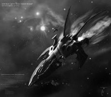 Eldar Shrike Bomber_grayscale by Addinarr