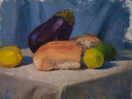 Eggplant and Lemons by BClary