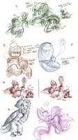pkmn crossing sketch dump by BatLover800