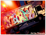 Graffiti NYC style : Side Truck by SynfulSick