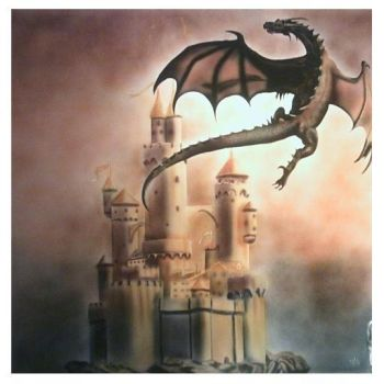 chateau dragon painted by guitchart