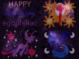 Happy B-day egophiliac by ArtStude3n2