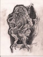 Cthulhu sketch by GodIsAlone