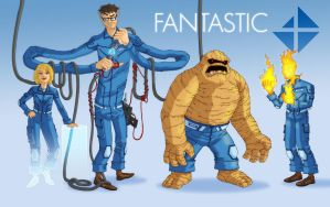 Fantastic Four Redesign by superleezard