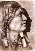 Indian Profile by ArtsandDogs