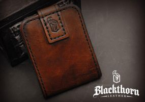 Card Wallet Back by Blackthornleather