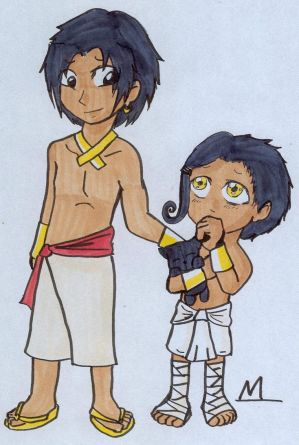 Childhood Anubis and Horus