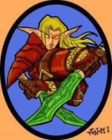 WoW Blood Elf Rogue : Rokh by z3r0knight