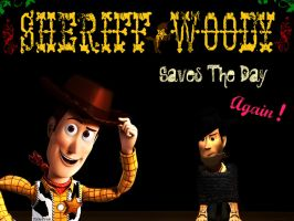 Sheriff Woody Saves The Day by PixarPride