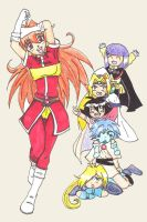 Lina and Her Chibi Lackey's! by PsychoSongstress