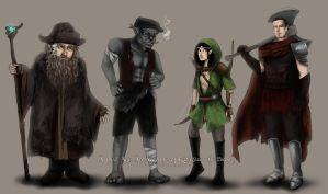 Middle Earth characters by camibee