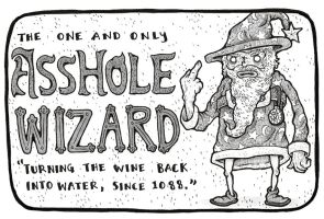 Asshole Wizard Title Page by Papposilenos
