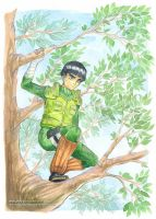 Rock Lee on mission | GIFTART by MajorasMasks