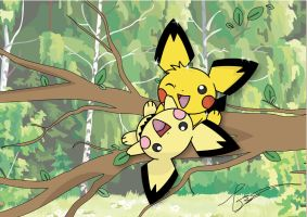 Pichu's Treeparty by FraankBiebs
