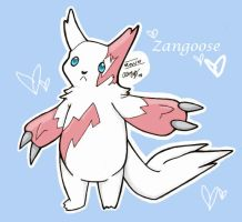 Zangoose by DaVolcomQueen