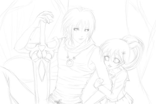 Work in Progress: Couples Commission by CupcakeDolly