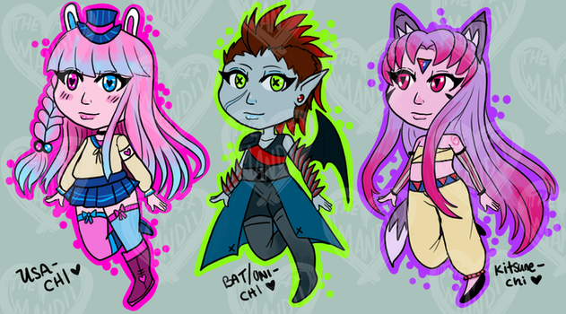 Multi-Tiered Chibi Adopts! [3/3 Open] by themandii