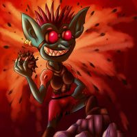 Prickle the demolition Goblin by megadrivesonic