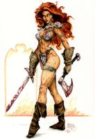 Red Sonja by PlanetDarkOne