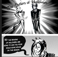Halloween Butlers by dieingcity