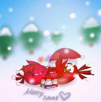Merry Christmas~ ^w^ by Rosabird5673