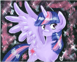 Princess Twilight Sparkle Acrylic Painting by CartoonOwl