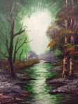 Magical forest painting by gillen29