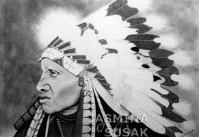 MyIndian Drawing by JasminaSusak