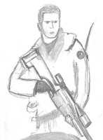 Gary 'Roach' Sanderson Sketch by rooster-crow