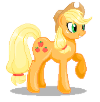 Applejack Pixel Art by catawump