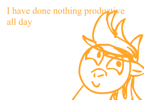 I have done nothing productive all day by TigerPegasus