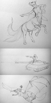 Draw A Centaur Day - Sketches by LeccathuFurvicael