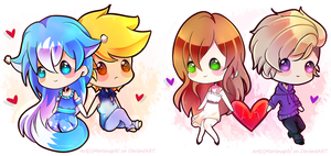 .: Couples baby chibi commissions - Batch#2 :. by marianapiki