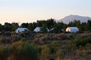 White Canvas Tents by GreenEyezz-stock