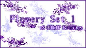 GIMP Flowery Set1 by Illyera