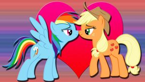 Wallpaper Love AppleDash by Barrfind