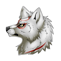 Okami head side view by Kyuubi83256