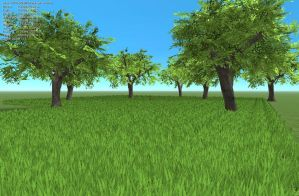 Blender Realtime Grass Spam by Tomoffell