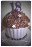 Giant Chocolate Cupcake by EmmaSabina