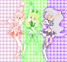 Cure Chrysanth, Bamboo and Plum by SailorTrekkie92