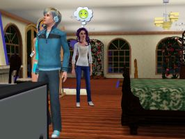 in sims 3, Rarity, Blitz and Dash behind XD by jelly-berry