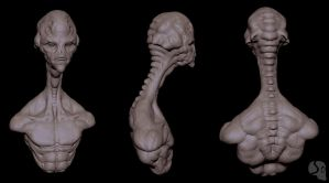 long neck alien sheet by Pix-man