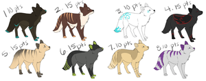 Canine Adoptables 2 by Nanabuns