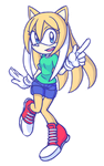 Kylee the Hedgehog by SonicRocksMySocks