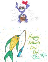 father day and Birthday art  by Kittychan2005