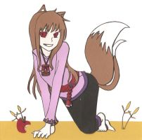 Spice and Wolf Holo Scrap-Art by theTimTraveler